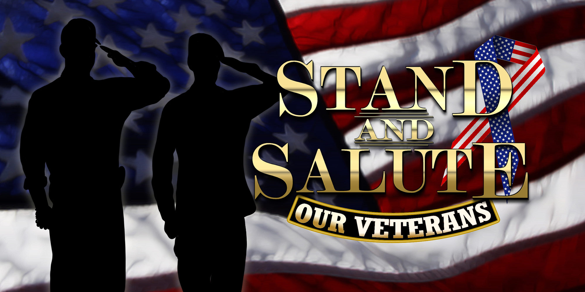 Stand and Salute: Our Soldiers Logo Image